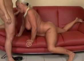 Big-titted Grannie Anal invasion