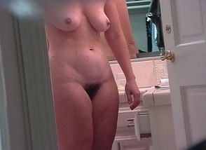 Ex wondering around the shower,..