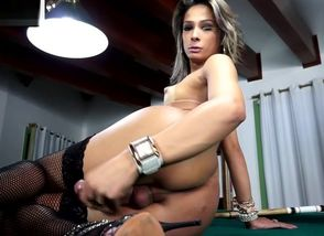 Glam mexican transgender tugging..