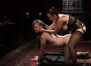 Domina Pegging a Corded Dude