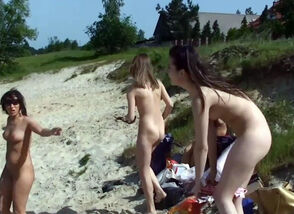 Young woman 18+ Naked Sand Castles