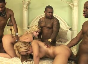 Multiracial gang-bang with..
